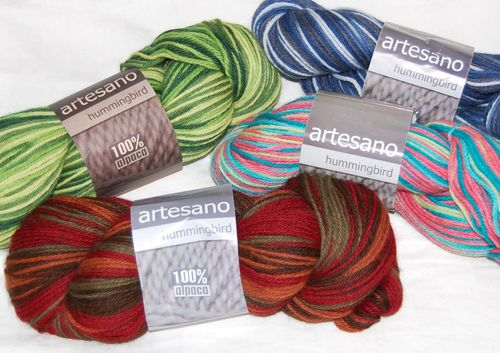 Artesano hummingbird sock knitting
