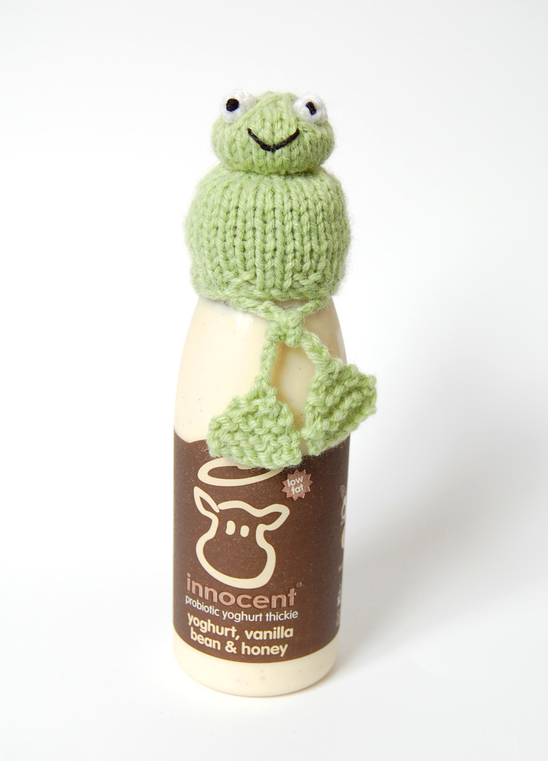 Free Knitting Pattern for Frog Hat for Innocent Smoothies Big Knit ...