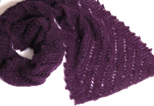 Purple ridge scarf 3