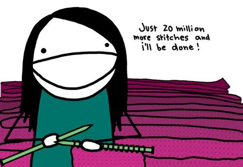 Knitting cartoon