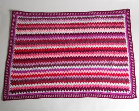 Full pink stripes blanket