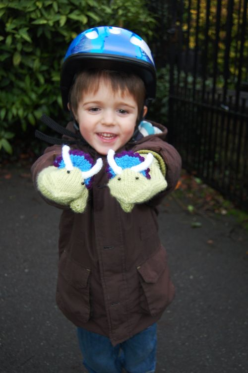 Dino Gloves and Ollie