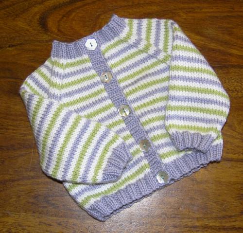 Stripey baby cardigan[1]